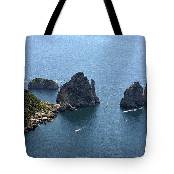Faraglioni A Capri  Tote Bag