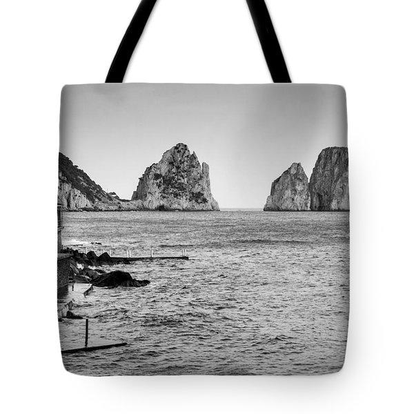Faraglioni Tote Bag by Silvia Bruno