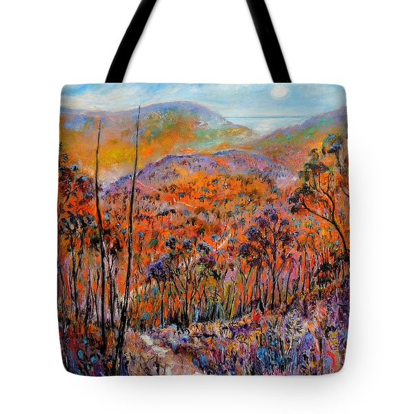 Tote Bag featuring the painting Faraway Kingdom by Jeremy Holton