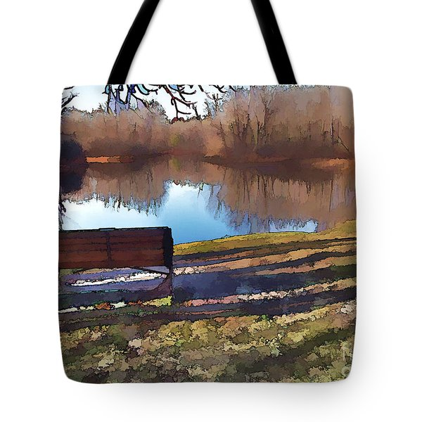 Farewell Fishing Tote Bag by Betsy Zimmerli