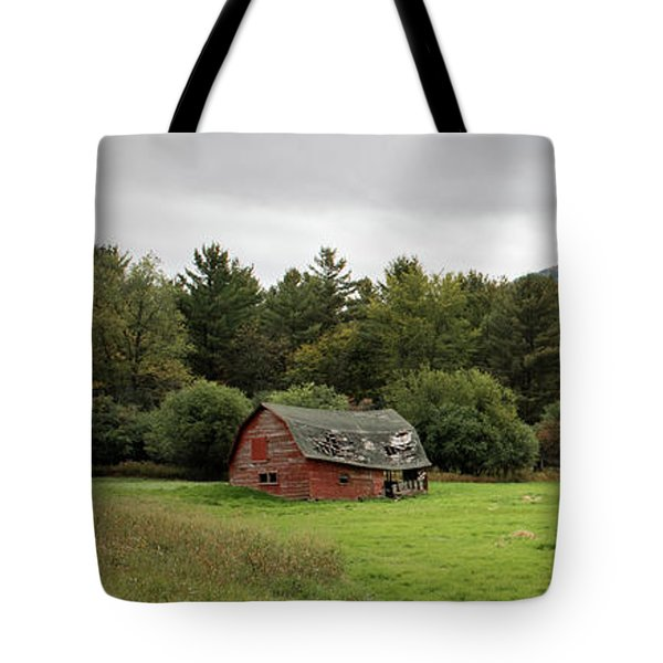 Farewell Red Barn Tote Bag