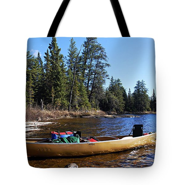Farewell To Hope Lake Tote Bag by Larry Ricker