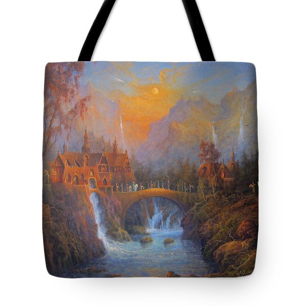 Farewell To Rivendell The Passing Of The Elves Tote Bag by Joe  Gilronan