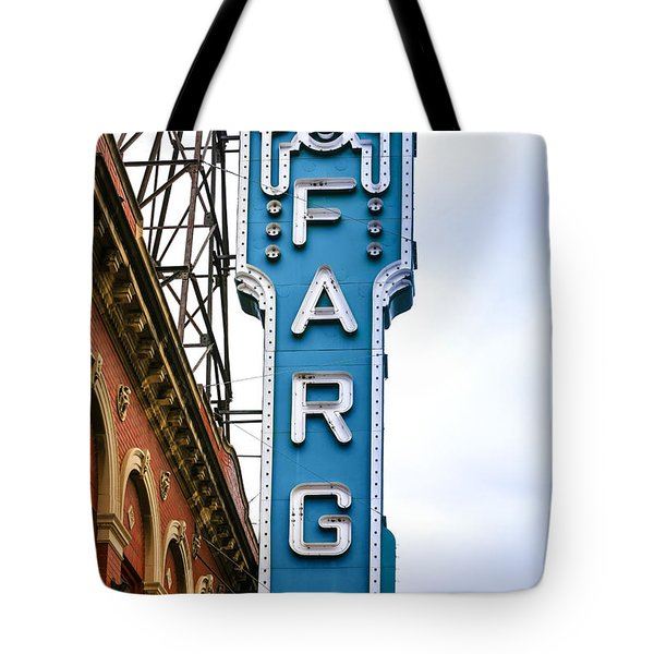 Fargo Blue Theater Sign Tote Bag