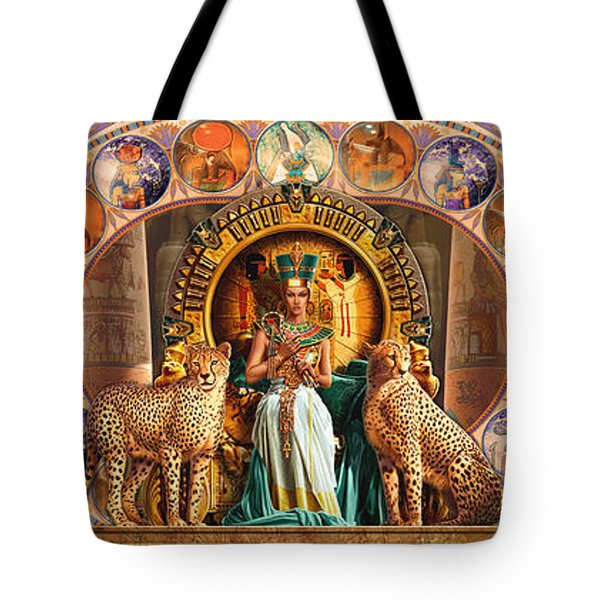 Farley Egyptian Triptych Tote Bag by Andrew Farley