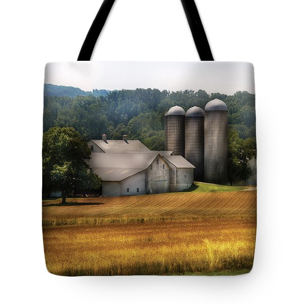 Farm - Barn - Home On The Range Tote Bag by Mike Savad