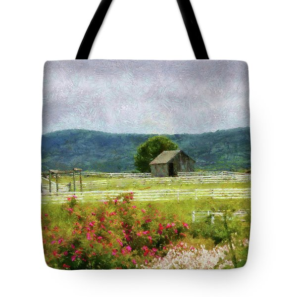 Farm - Barn - Out In The Country  Tote Bag by Mike Savad