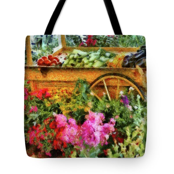 Farm - Food - At The Farmers Market Tote Bag by Mike Savad