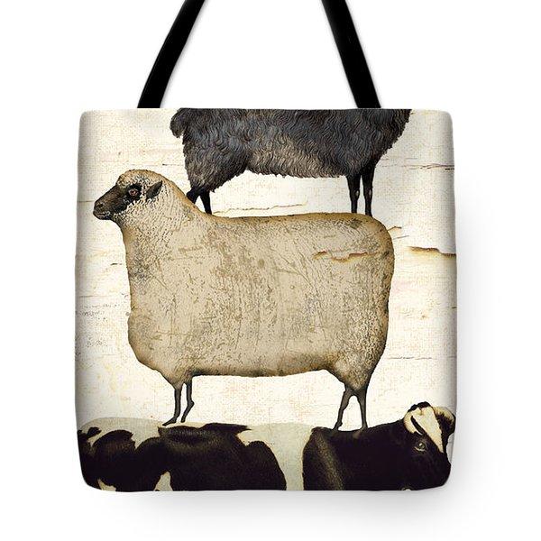 Farm Animals Pileup Tote Bag