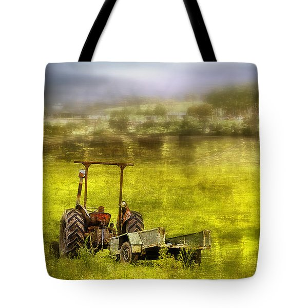 Tote Bag featuring the photograph Farm Art 001 by Kevin Chippindall