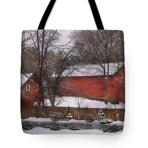 Farm - Barn - Winter In The Country  Tote Bag