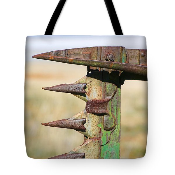 Tote Bag featuring the photograph Farm Equipment 1 by Ely Arsha