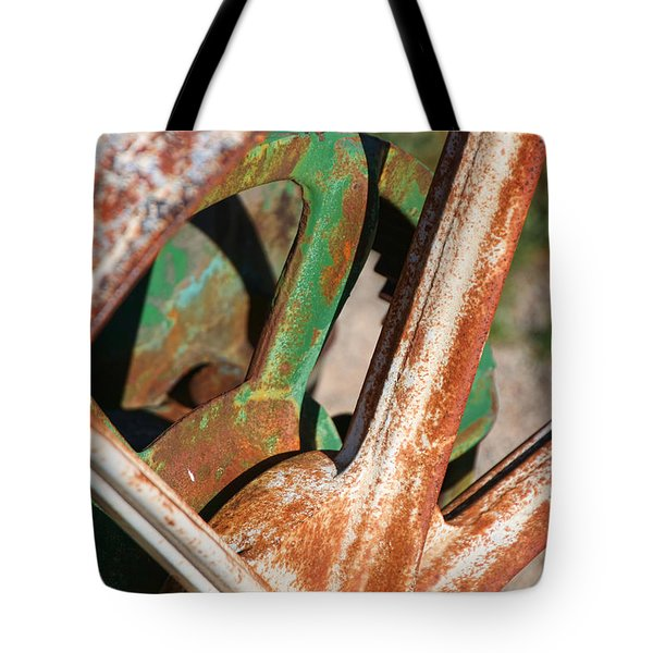Tote Bag featuring the photograph Farm Equipment 2 by Ely Arsha