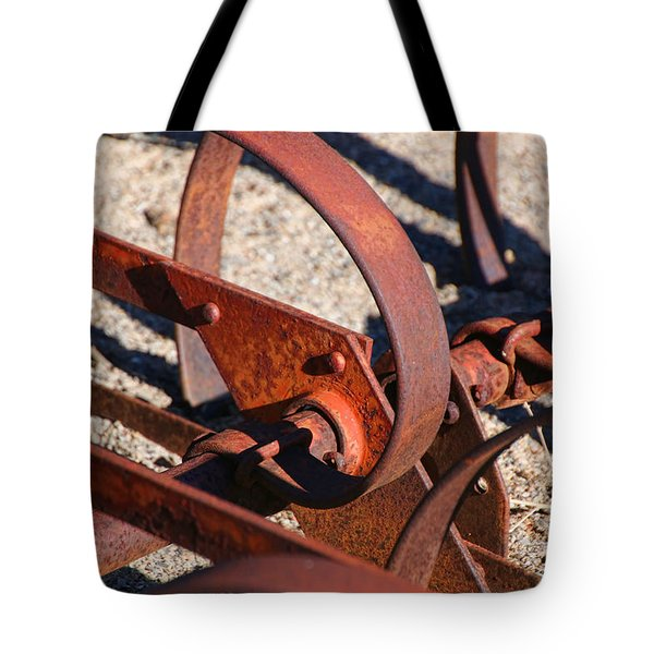 Tote Bag featuring the photograph Farm Equipment 4 by Ely Arsha