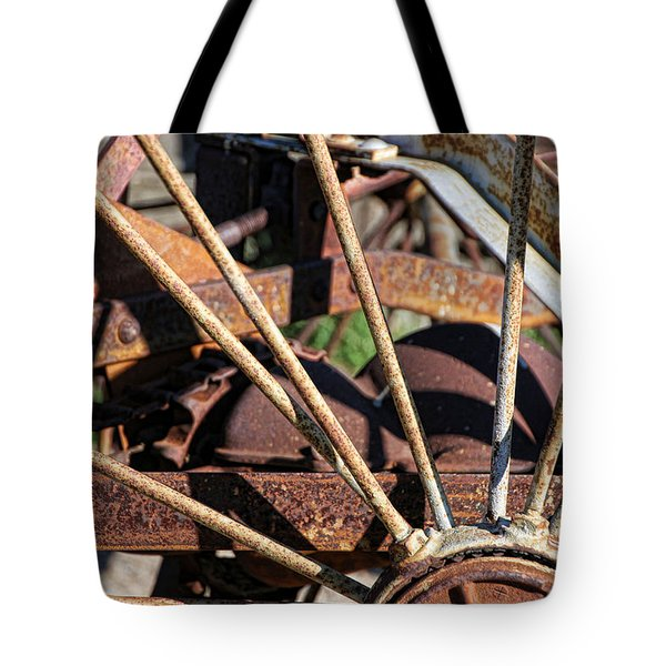 Tote Bag featuring the photograph Farm Equipment 5 by Ely Arsha