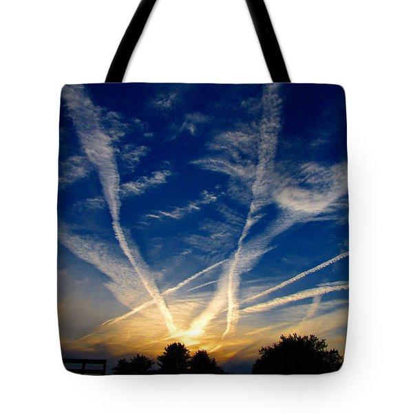 Farm Evening Skies Tote Bag