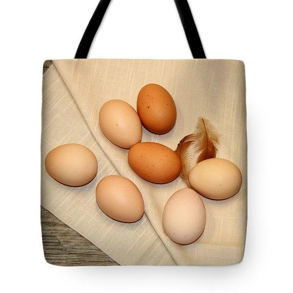 Farm Fresh Eggs Tote Bag