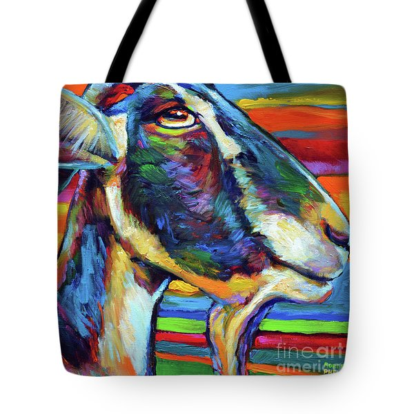 Farm Goat Tote Bag by Robert Phelps