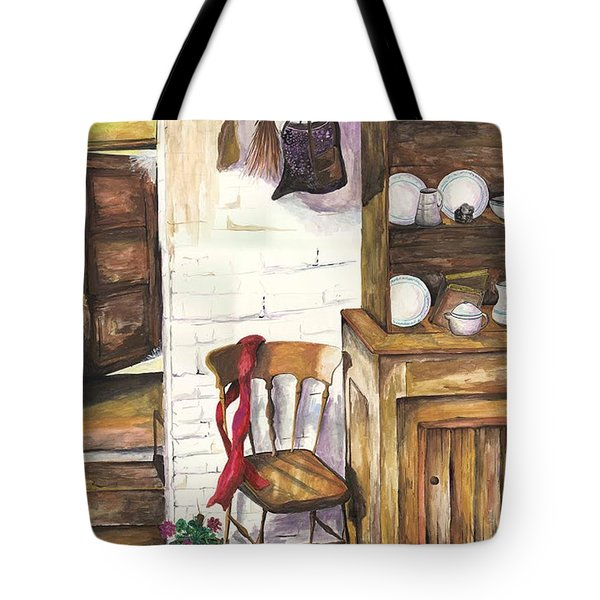 Tote Bag featuring the painting Farm House by Darren Cannell