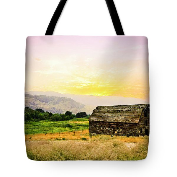 Twilight At The Okanagan Farm House Canada Tote Bag
