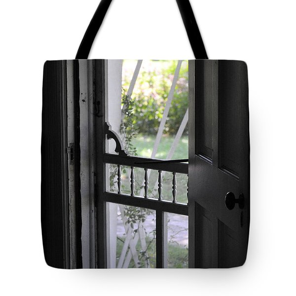 Farm House Screen Door Tote Bag