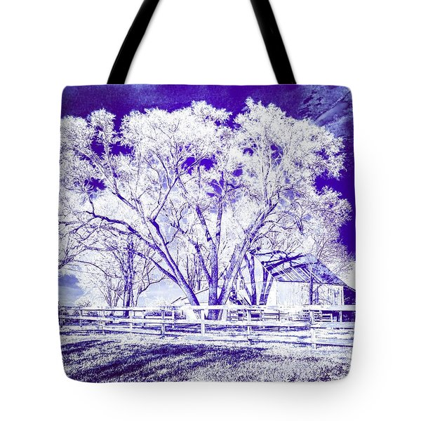 Farm In Suburbia With Wildcat Flare Tote Bag