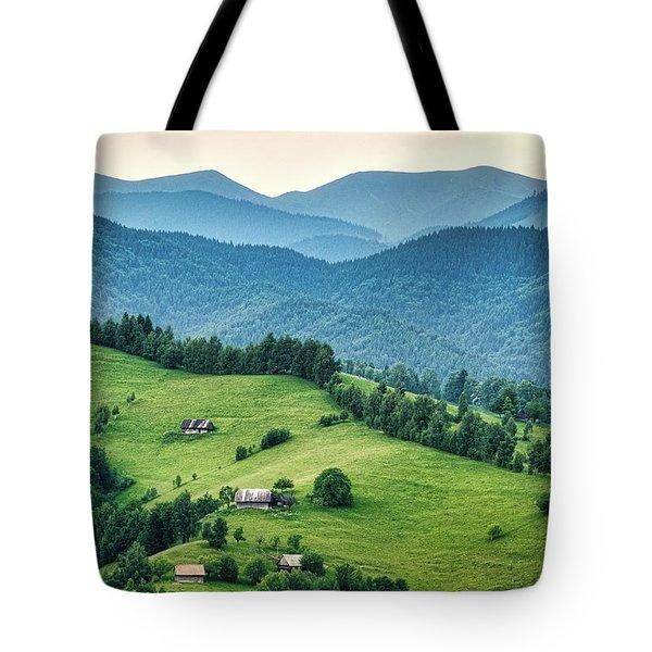 Farm In The Mountains - Romania Tote Bag