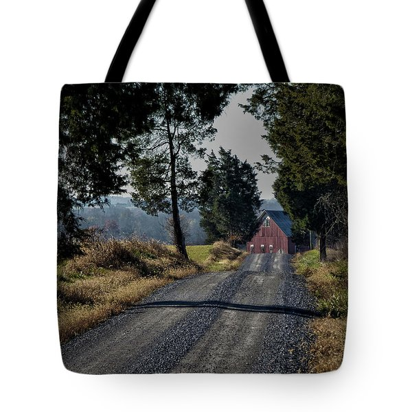 Tote Bag featuring the photograph Farm Lane by Robert Geary