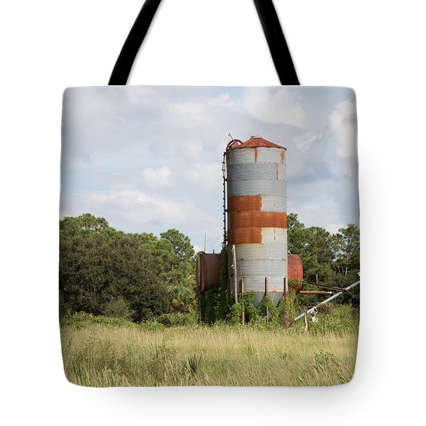 Farm Life - Retired Silo Tote Bag