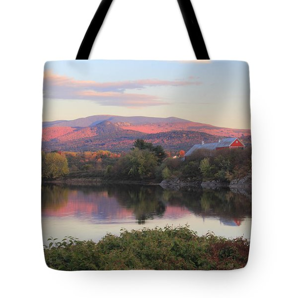 Early Autumn Evening On The Connecticut River Newbury Vermont Tote Bag