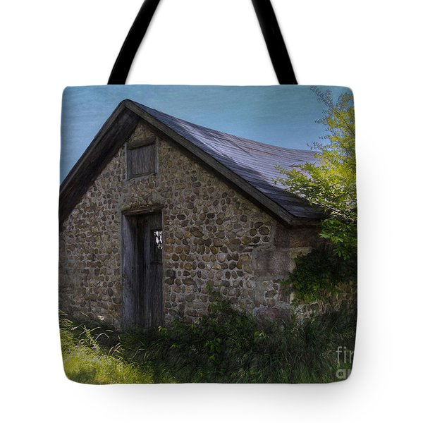 Tote Bag featuring the photograph Farm Outbuilding by JRP Photography