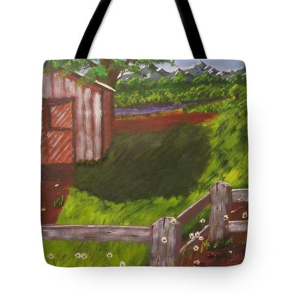 Farm Painting Tote Bag