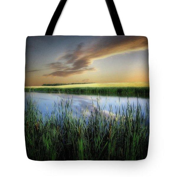 Farm Pond Tote Bag