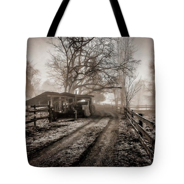 Farm Road Late Autumnl. Tote Bag