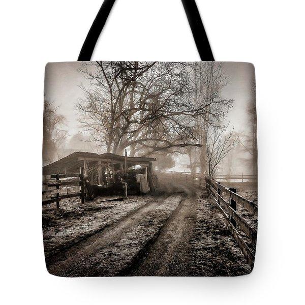 Farm Road Late Autumnl. Tote Bag