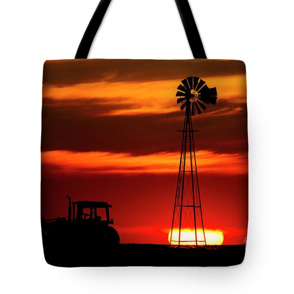 Farm Silhouettes Tote Bag