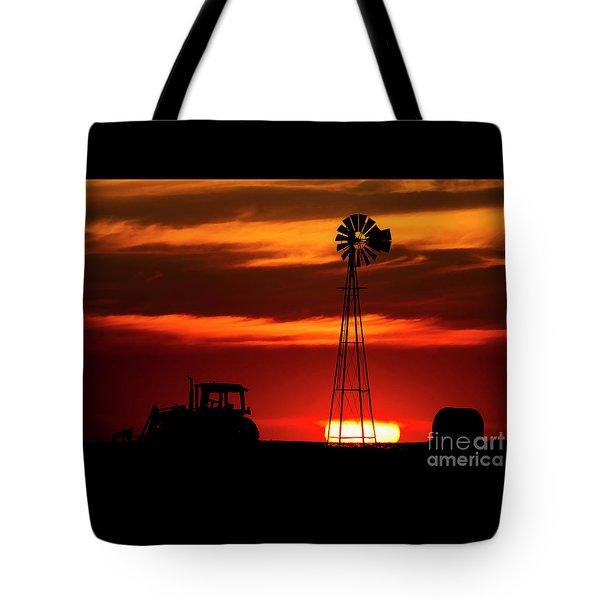 Farm Silhouettes Tote Bag