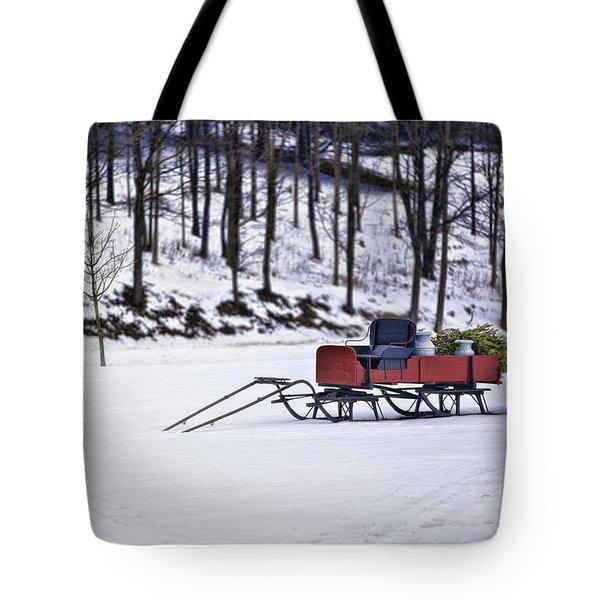 Farm Sleigh Tote Bag