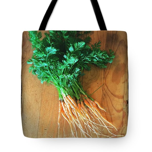 Fresh Carrots Tote Bag by Nancy Ingersoll