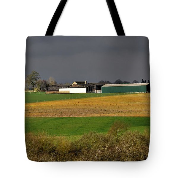 Tote Bag featuring the photograph Farm View by Jeremy Hayden