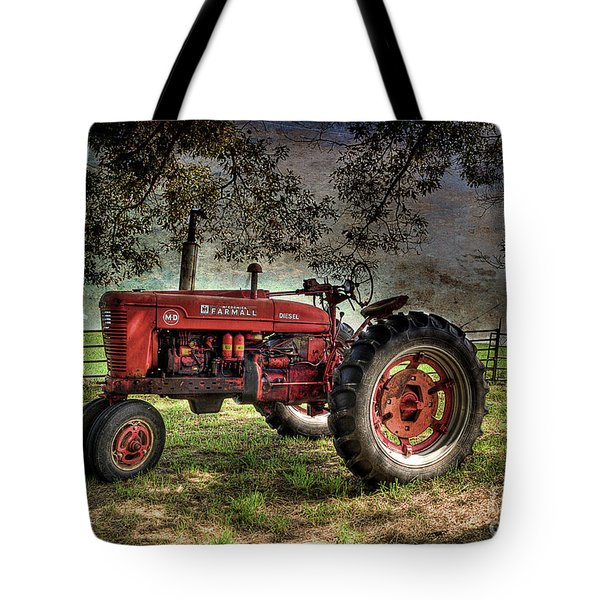 Farmall In The Field Tote Bag