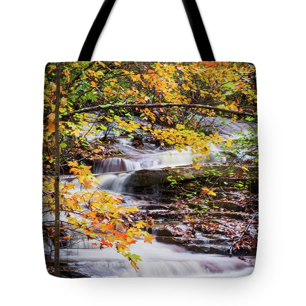 Tote Bag featuring the photograph Farmed With Golden Colors by Parker Cunningham