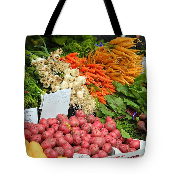 Tote Bag featuring the photograph Farmer's Market by Jeanette French