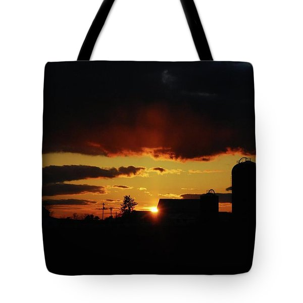 Farmer's Sunset Tote Bag
