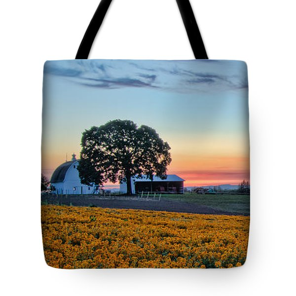 Farmhouse Among The Wallflowers Tote Bag