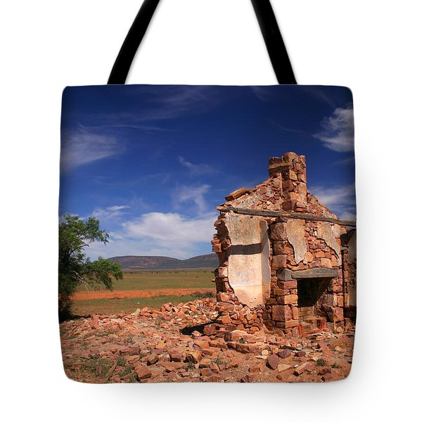 Farmhouse Cottage Ruin Flinders Ranges South Australia Tote Bag by Ralph A  Ledergerber-Photography