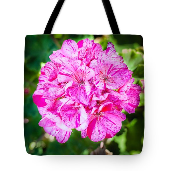 Farmhouse Geranium Tote Bag