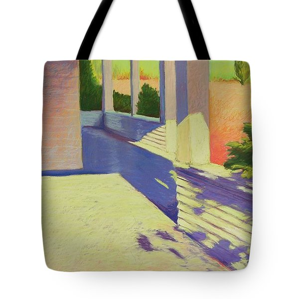 Farmhouse Porch Tote Bag by Mary McInnis
