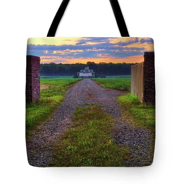 Farmhouse Sunrise - Arkansas - Landscape Tote Bag by Jason Politte