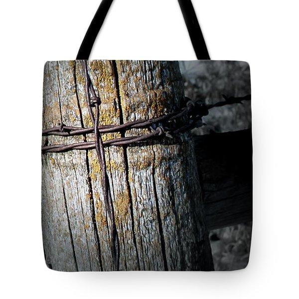 Farming Cross Tote Bag